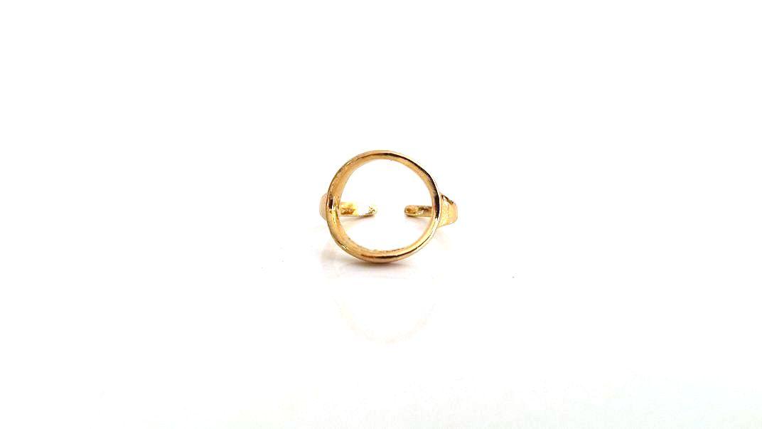 Μπρούτζινο δαχτυλίδι με κύκλο