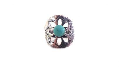 Boho δαχτυλίδι με γαλάζια πέτρα