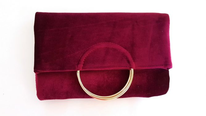 dcb4ae83fd Velvet hoop envelope