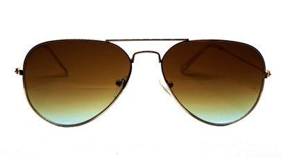 Γυαλιά ηλίου με καφέ-βεραμάν φακό