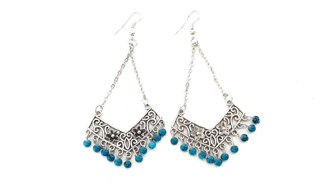 18ecbd6270 Boho blue earrings