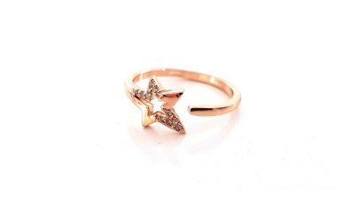 Δαχτυλίδι αστέρι με στρας
