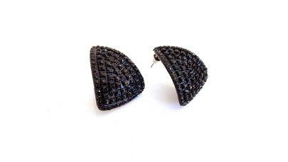 Μαύρα σκουλαρίκια με στρας