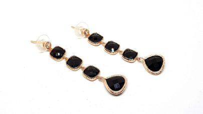 Σκουλαρίκια με κρυστάλλινες πέτρες