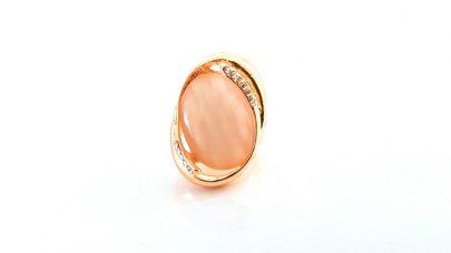 Δαχτυλίδι με ροζ πέτρα