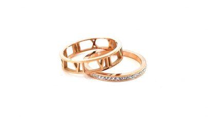 Ατσάλινο διπλό δαχτυλίδι