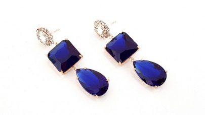 Κρεμαστά σκουλαρίκια με μπλε πέτρες