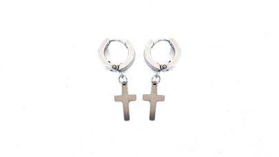 Ατσάλινα σκουλαρίκια με σταυρούς