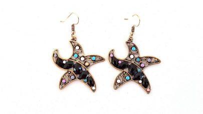 Κρεμαστά πολύχρωμα σκουλαρίκια σε σχήμα αστερία