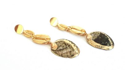 Κρεμαστά σκουλαρίκια με κοχύλια