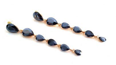 Κρεμαστά μακριά σκουλαρίκια με πέτρες