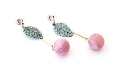Κρεμαστά σκουλαρίκια με φύλλο
