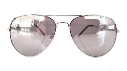Γυαλιά ηλίου με ασημί καθρέφτη