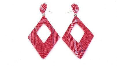 Κρεμαστά σκουλαρίκια με ύφασμα