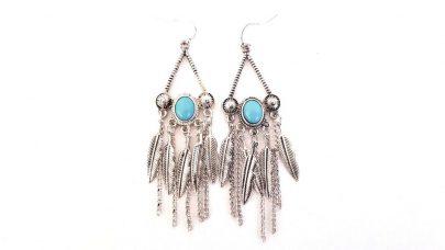 Κρεμαστά boho σκουλαρίκια με φτερά