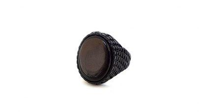 Ανδρικό μαύρο δαχτυλίδι