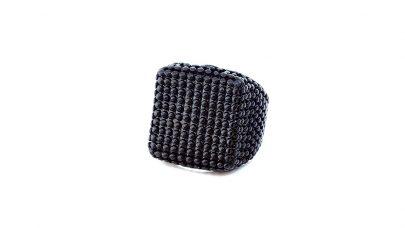 Men's black ring