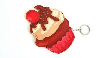 Πορτοφόλι-μπρελόκ σε σχήμα cupcake