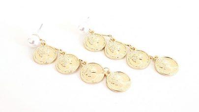 Σκουλαρίκια με νομίσματα