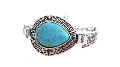 Boho βραχιόλι με γαλάζια πέτρα