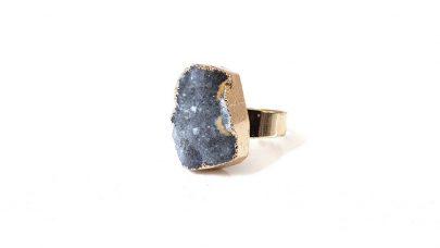 Δαχτυλίδι με φυσική πέτρα αχάτη