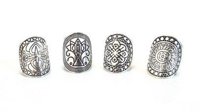Σετ boho δαχτυλιδιών