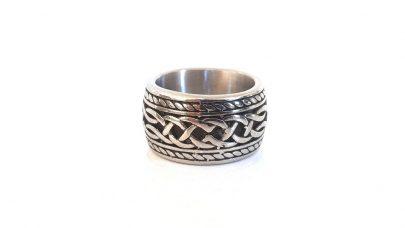 Φαρδύ ανδρικό ατσάλινο δαχτυλίδι