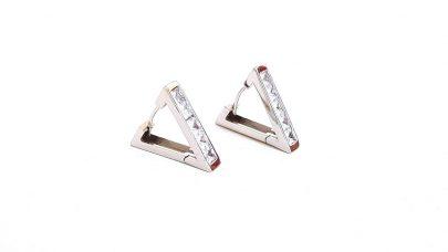Τριγωνικά σκουλαρίκια με στρας