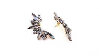 Κρεμαστά σκουλαρίκια με ακρυλικές χάντρες και στρας