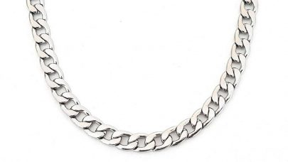 Men's steel chain necklace