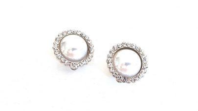 Σκουλαρίκια με κλιπ με πέρλες