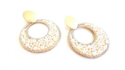 Σκουλαρίκια κρίκοι με πέρλες