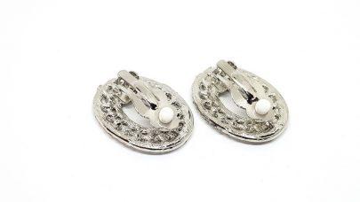 Σκουλαρίκια με κλιπ με στρας