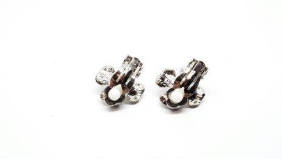 Σκουλαρίκια με κλιπ με πέρλες και στρας