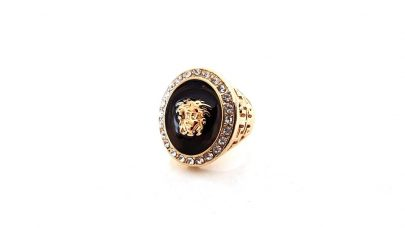 Black enameled ring
