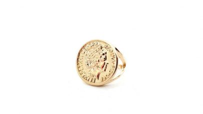 Ring with coin