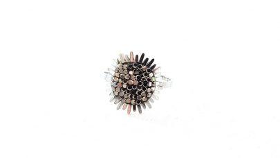 Ατσάλινο δαχτυλίδι με στρας