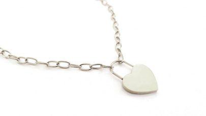 Ατσάλινη αλυσίδα λαιμού με καρδιά