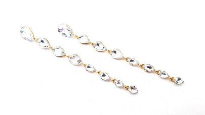 Πολύ μακριά σκουλαρίκια με πέτρες