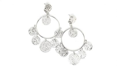 Boho σκουλαρίκια με νομίσματα
