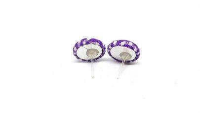 Plaid stud earrings