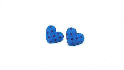 Πουά σκουλαρίκια καρδιές