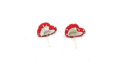 Set of hearts earrings