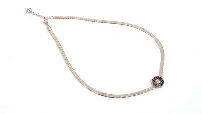 Short steel star necklace