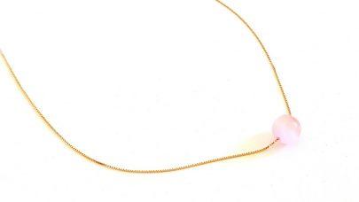 Short silver necklace