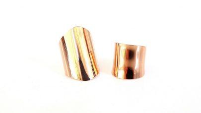 Σετ 2 ατσάλινων δαχτυλιδιών