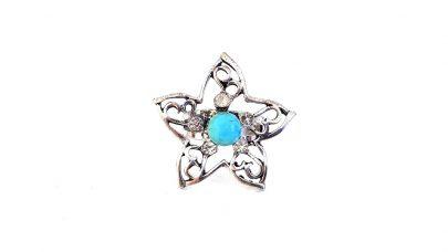Δαχτυλίδι με γαλάζια πέτρα χαολίτη