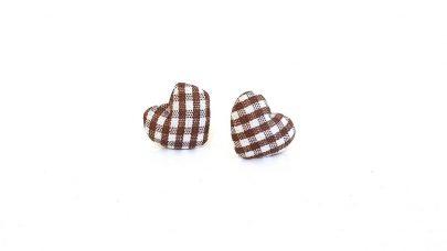 Καρώ σκουλαρίκια καρδιές