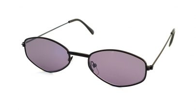 Sunglasses with polygonal lenses