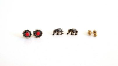 Σετ από 3 ζευγάρια σκουλαρίκια